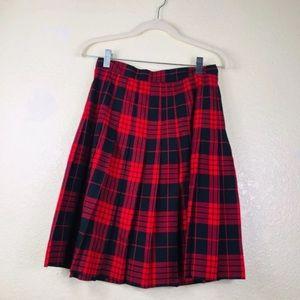 🔴 Studio Vintage Red Plaid Skirt
